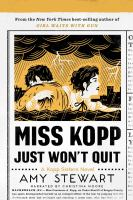Cover image for Miss Kopp just won't quit