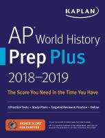 Cover image for AP world history prep plus.