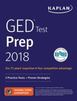 Cover image for GED test prep 2018