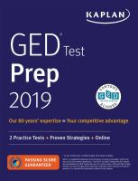 Cover image for GED test prep 2019.