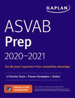 Cover image for ASVAB Prep 2020-2021