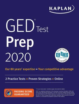 Cover image for GED test prep 2020.