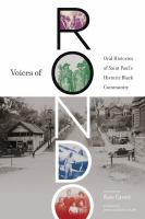 Cover image for Voices of Rondo : oral histories of Saint Paul's historic Black community
