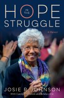 Cover image for Hope in the struggle : a memoir