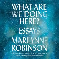 Cover image for What are we doing here? : essays