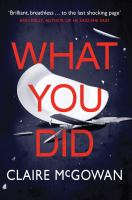 Cover image for What you did