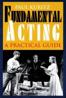 Cover image for Fundamental acting : a practical guide