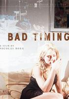 Cover image for Bad timing