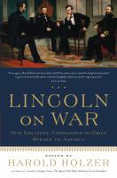 Cover image for Lincoln on war
