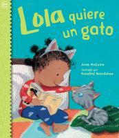 Cover image for Lola quiere un gato