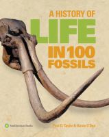 Cover image for A history of life in 100 fossils