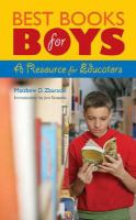 Cover image for Best books for boys : a resource for educators
