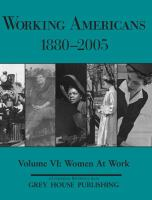 Cover image for Working Americans, 1880-2005. Women at work