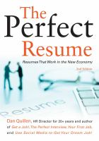 Cover image for The perfect resume : resumes that work in the new economy!