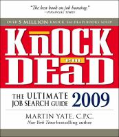 Cover image for Knock 'em dead : the ultimate job search guide.