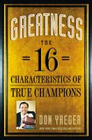Cover image for Greatness : the 16 characteristics of true champions