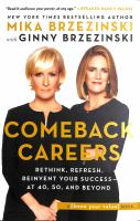 Cover image for Comeback careers : rethink, refresh, reinvent your success--at 40, 50, and beyond