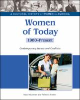 Cover image for Women of today : contemporary issues and conflicts, 1980-present