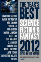 Cover image for The year's best science fiction & fantasy 2012