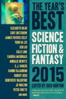 Cover image for The year's best science fiction & fantasy 2015