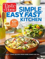 Cover image for Taste of Home simple, easy, fast kitchen.