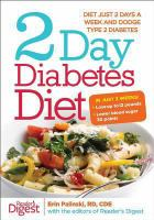 Cover image for 2 day diabetes diet : diet just 2 days a week and dodge Type 2 diabetes