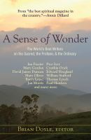 Cover image for A sense of wonder : the world's best writers on the sacred, the profane, and the ordinary