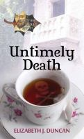 Cover image for Untimely death : a Shakespeare in the Catskills mystery