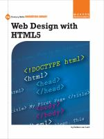 Cover image for Web Design with HTML5