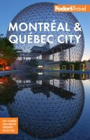 Cover image for Fodor's Montreal & Quebec City