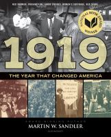 Cover image for 1919 : the year that changed America