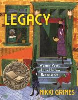 Cover image for Legacy : women poets of the Harlem Renaissance