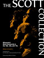 Cover image for The Scott collection : Minnesota's black community in the '50s, '60s, and '70s