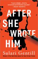 Cover image for After she wrote him