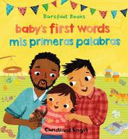 Cover image for Baby's first words = mis primeras palabras