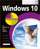 Cover image for Windows 10 in easy steps