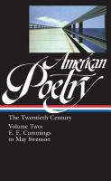 Cover image for American poetry, volume two : twentieth century : E.E. Cummings to May Swenson.