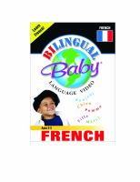 Cover image for Bilingual Baby language video. French