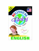 Cover image for Bilingual Baby language video. English