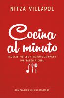 Cover image for Cocina al minuto : recetas fáciles y rápidas de hacer con sabor a Cuba