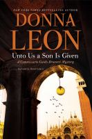Cover image for Unto us a son is given