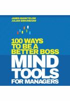 Cover image for Mind tools for managers : 100 ways to be a better boss