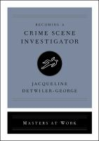 Cover image for Becoming a crime scene investigator