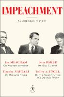 Cover image for Impeachment : an American history