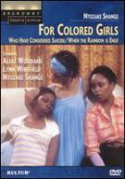 Cover image for For colored girls who have considered suicide, when the rainbow is enuf