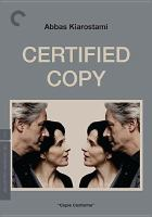 Cover image for Certified copy