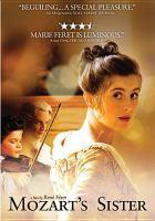 Cover image for Nannerl, la soeur de Mozart Mozart's sister