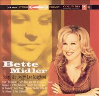 Cover image for Bette Midler sings the Peggy Lee songbook