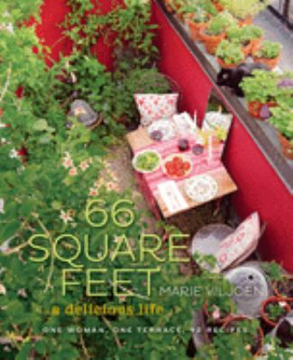 Cover image for 66 square feet : a delicious life : one woman, one terrace, 92 recipes