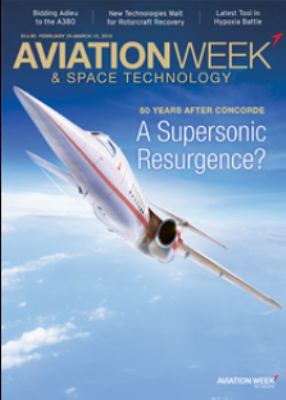 Cover of an issue of Aviation Week